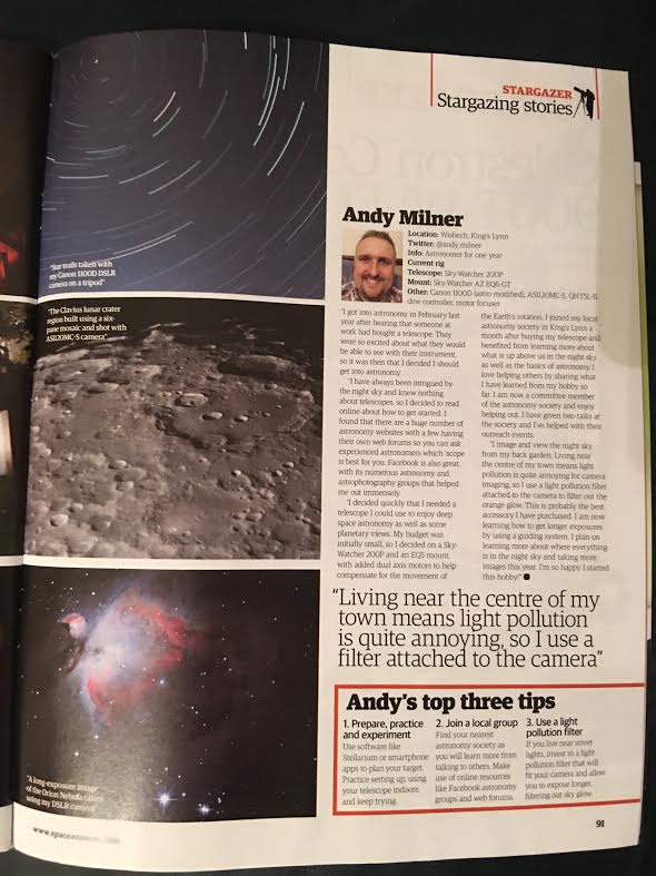 Andy Milner Astro - Publications of my images in print or on-line